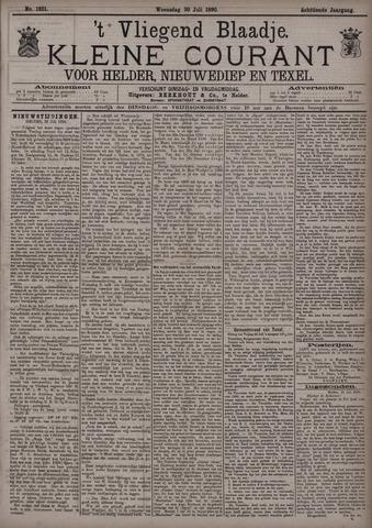 Vliegend blaadje : nieuws- en advertentiebode voor Den Helder 1890-07-30