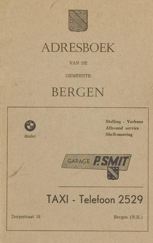Adresboek van Bergen 1970-01-01