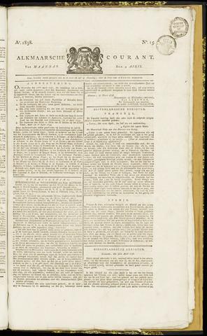 Alkmaarsche Courant 1838-04-09