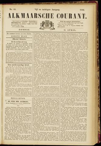 Alkmaarsche Courant 1883-04-15