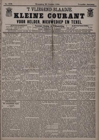 Vliegend blaadje : nieuws- en advertentiebode voor Den Helder 1884-10-22