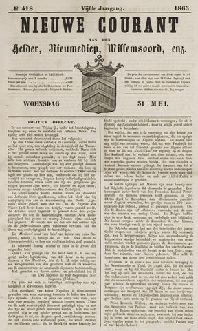Nieuwe Courant van Den Helder 1865-05-31