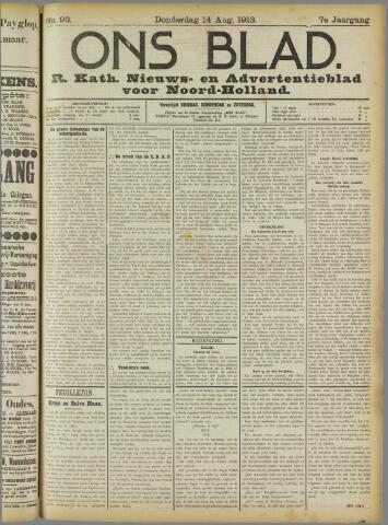 Ons Blad : katholiek nieuwsblad voor N-H 1913-08-14