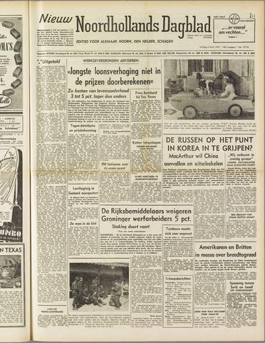 Nieuw Noordhollandsch Dagblad : voor Alkmaar en omgeving 1951-04-06
