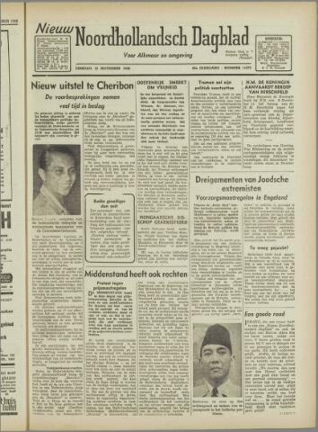 Nieuw Noordhollandsch Dagblad : voor Alkmaar en omgeving 1946-11-12