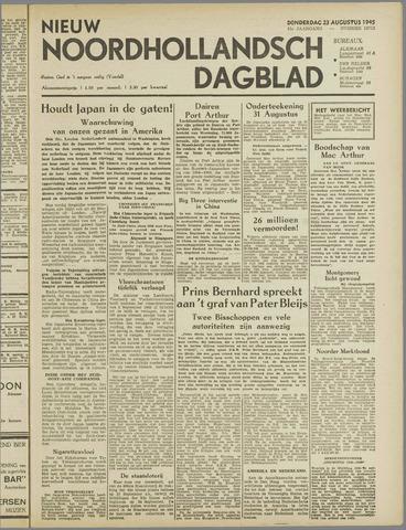 Nieuw Noordhollandsch Dagblad : voor Alkmaar en omgeving 1945-08-23