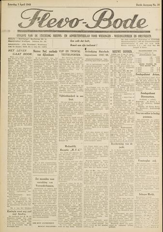 Flevo-bode: nieuwsblad voor Wieringen-Wieringermeer 1948-04-03