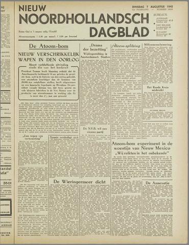 Nieuw Noordhollandsch Dagblad : voor Alkmaar en omgeving 1945-08-07
