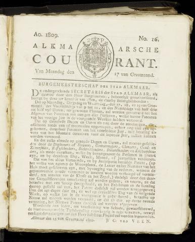 Alkmaarsche Courant 1809-04-17