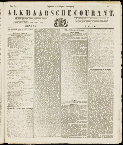 Alkmaarsche Courant 1877-03-04