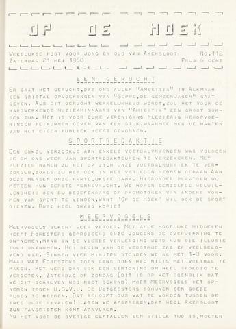 Op De Hoek, weekblad voor Akersloot 1960-05-21
