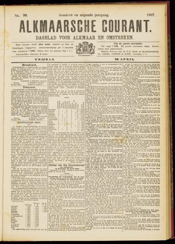 Alkmaarsche Courant 1907-04-26