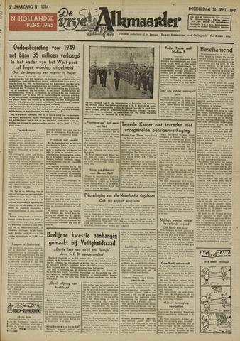 De Vrije Alkmaarder 1948-09-30