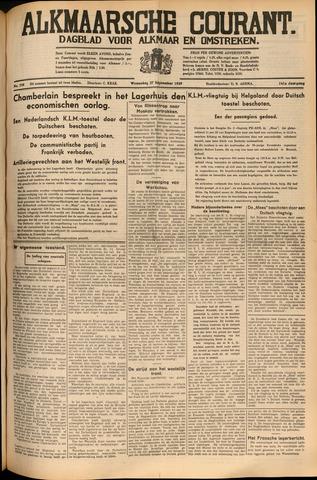 Alkmaarsche Courant 1939-09-27