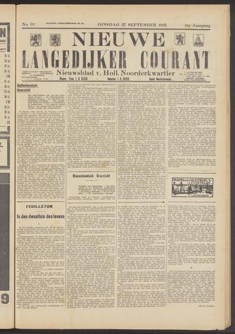 Nieuwe Langedijker Courant 1932-09-27