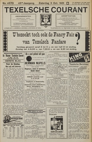 Texelsche Courant 1931-10-03