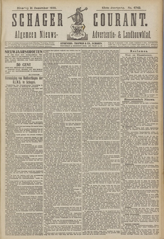 Schager Courant 1920-12-21