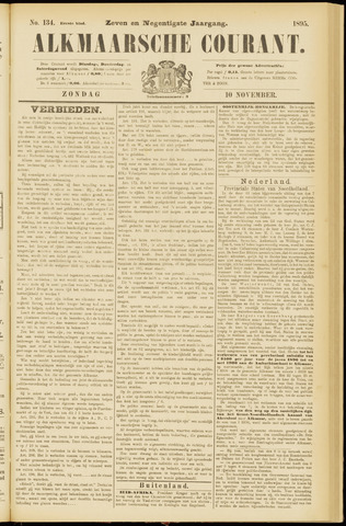 Alkmaarsche Courant 1895-11-10