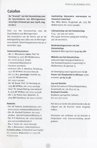 Kroniek Historisch Genootschap Wieringermeer 2007-12-01