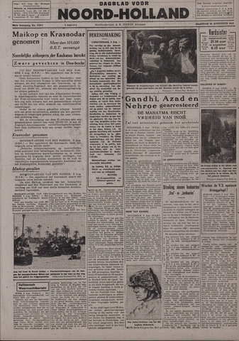 Dagblad Noord-Holland, Schager editie 1942-08-10