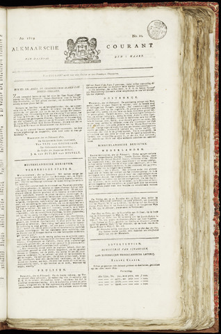 Alkmaarsche Courant 1819-03-08