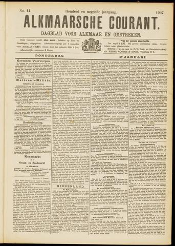 Alkmaarsche Courant 1907-01-17