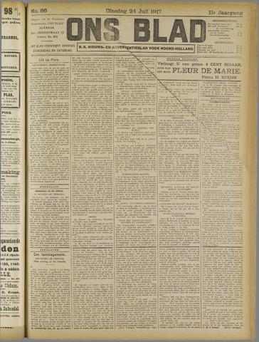 Ons Blad : katholiek nieuwsblad voor N-H 1917-07-24