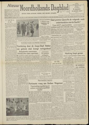 Nieuw Noordhollandsch Dagblad : voor Alkmaar en omgeving 1948-11-10