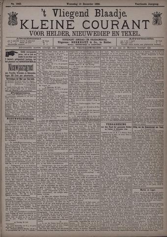Vliegend blaadje : nieuws- en advertentiebode voor Den Helder 1886-12-15
