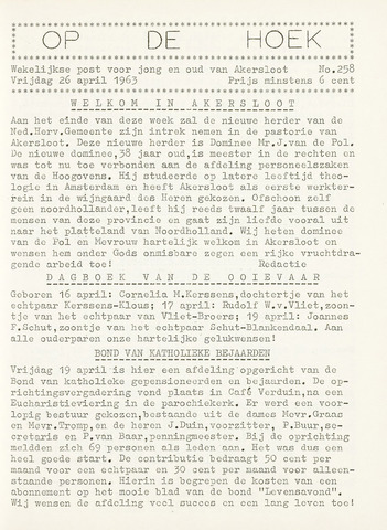 Op De Hoek, weekblad voor Akersloot 1963-04-26