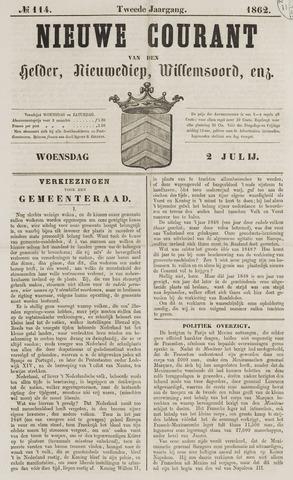 Nieuwe Courant van Den Helder 1862-07-02