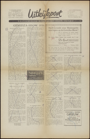 Uitkijkpost : nieuwsblad voor Heiloo e.o. 1956-09-21