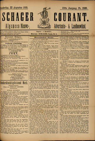 Schager Courant 1889-08-22
