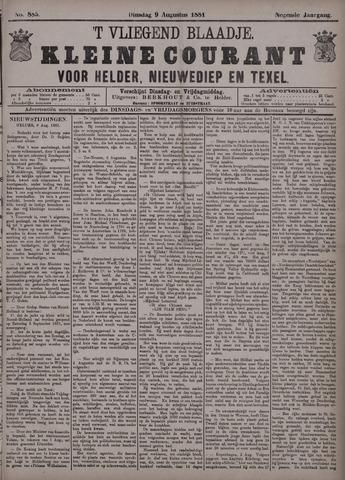Vliegend blaadje : nieuws- en advertentiebode voor Den Helder 1881-08-09