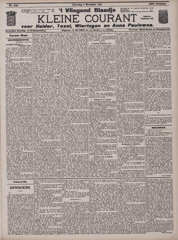 Vliegend blaadje : nieuws- en advertentiebode voor Den Helder 1912-11-09