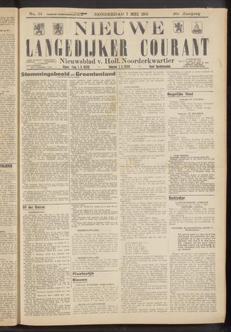 Nieuwe Langedijker Courant 1931-05-07