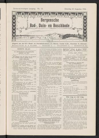 Bergensche bad-, duin- en boschbode 1936-08-22