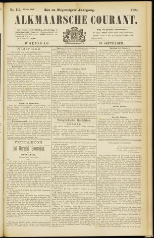 Alkmaarsche Courant 1894-09-19