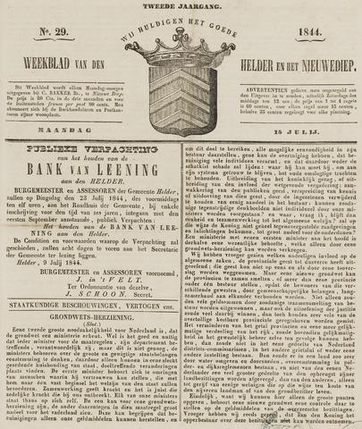 Weekblad van Den Helder en het Nieuwediep 1844-07-15