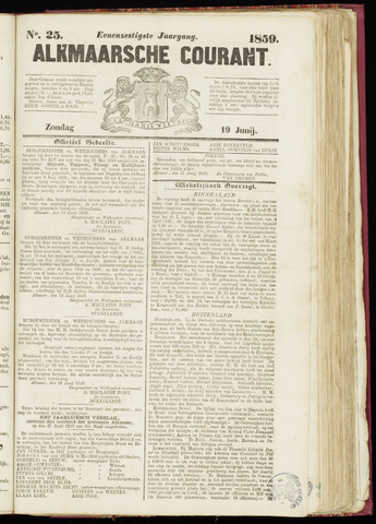 Alkmaarsche Courant 1859-06-19