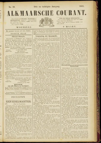 Alkmaarsche Courant 1881-03-09