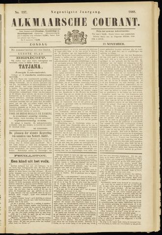 Alkmaarsche Courant 1888-11-11