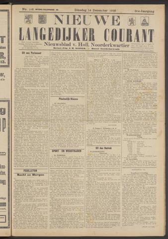 Nieuwe Langedijker Courant 1926-12-14