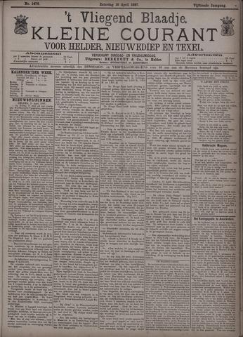 Vliegend blaadje : nieuws- en advertentiebode voor Den Helder 1887-04-16