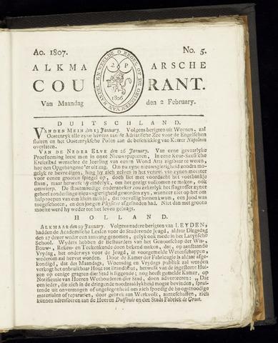 Alkmaarsche Courant 1807-02-02