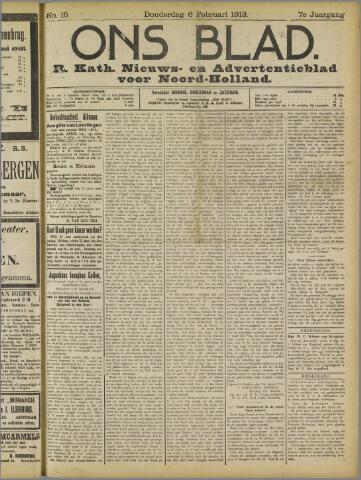 Ons Blad : katholiek nieuwsblad voor N-H 1913-02-06
