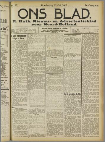 Ons Blad : katholiek nieuwsblad voor N-H 1913-07-31