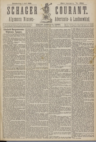 Schager Courant 1920-07-01