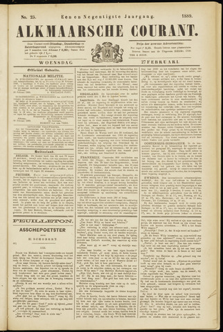 Alkmaarsche Courant 1889-02-27