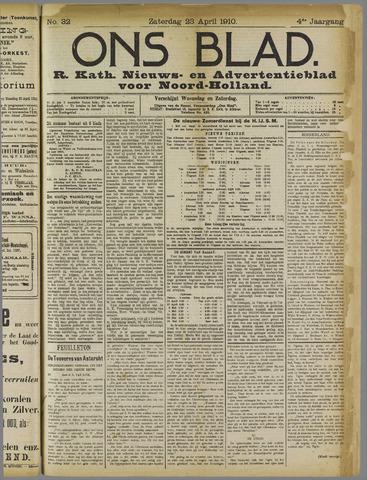 Ons Blad : katholiek nieuwsblad voor N-H 1910-04-23